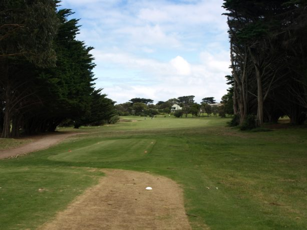 The 8th tee at Flinders Golf Club