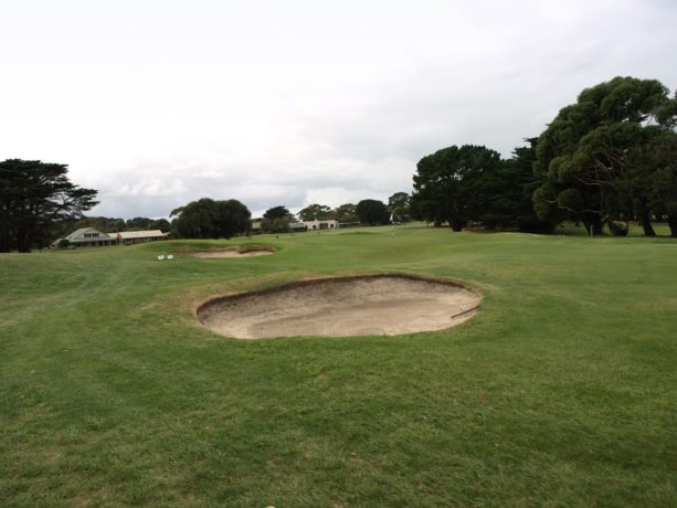 The 9th green at Flinders Golf Club
