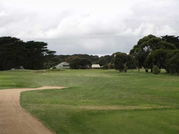 The 9th tee at Flinders Golf Club