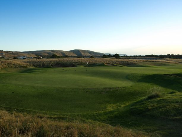 The 12th green at Links Lady Bay Golf Resort