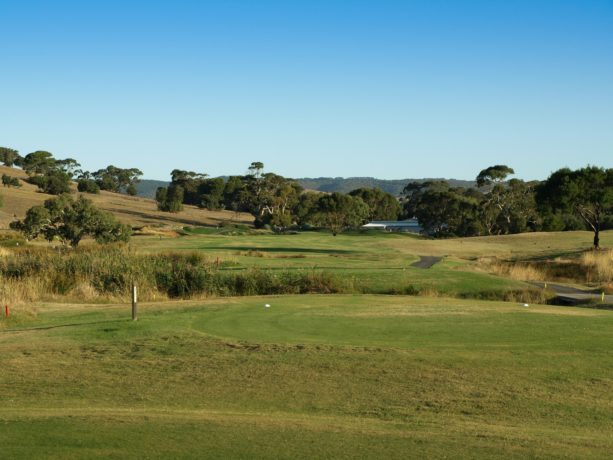 The 14th tee at Links Lady Bay Golf Resort