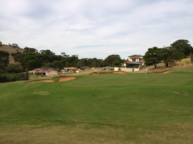 The 15th green at Links Lady Bay Golf Resort