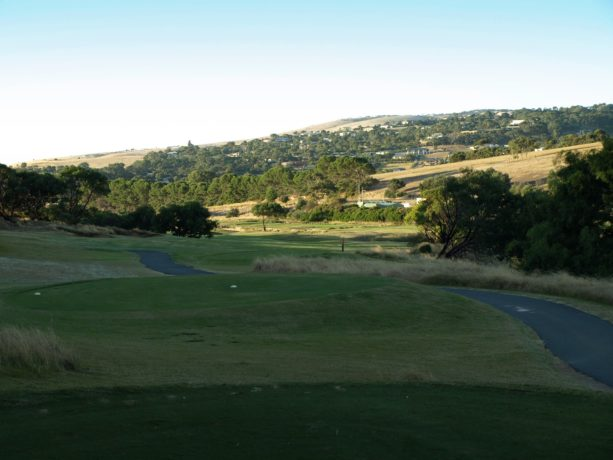 The 16th tee at Links Lady Bay Golf Resort