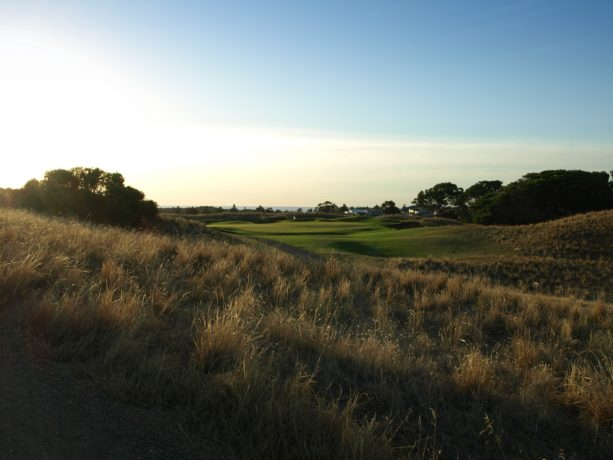 The 17th tee at Links Lady Bay Golf Resort