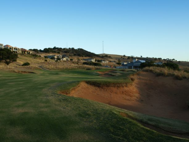 The 18th fairway at Links Lady Bay Golf Resort