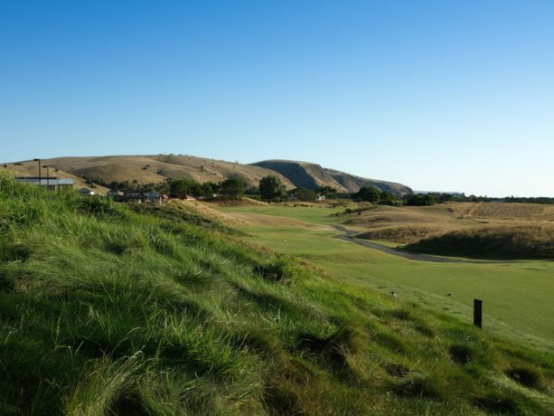 The 1st hole at Links Lady Bay Golf Resort