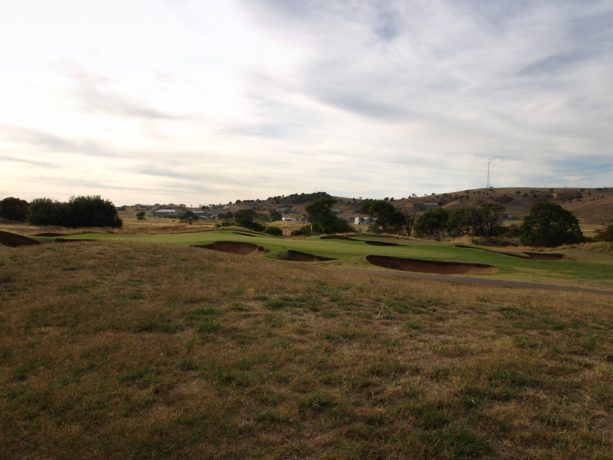 The 6th green at Links Lady Bay Golf Resort