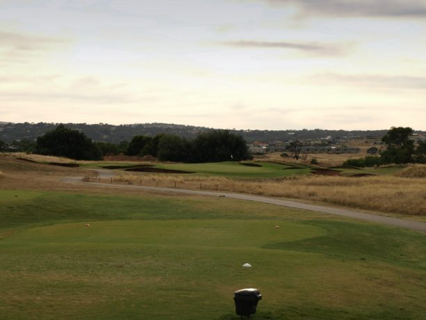The 6th tee at Links Lady Bay Golf Resort