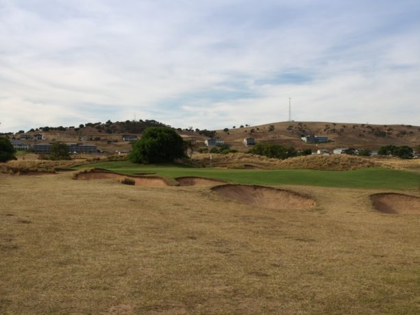 The 8th green at Links Lady Bay Golf Resort