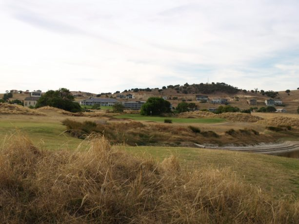 The 8th hole at Links Lady Bay Golf Resort