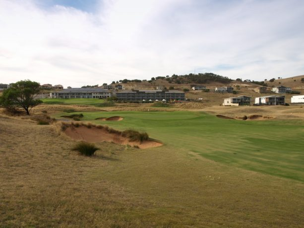 The 9th fairway at Links Lady Bay Golf Resort