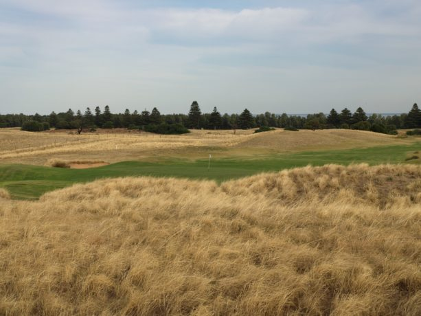 The 9th green at Links Lady Bay Golf Resort