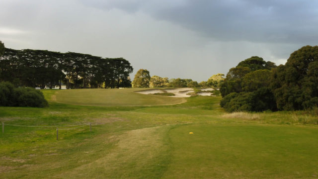 The 18th tee at Royal Melbourne Golf Club West Course