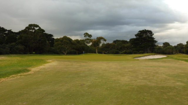 The 1st green at Royal Melbourne Golf Club West Course