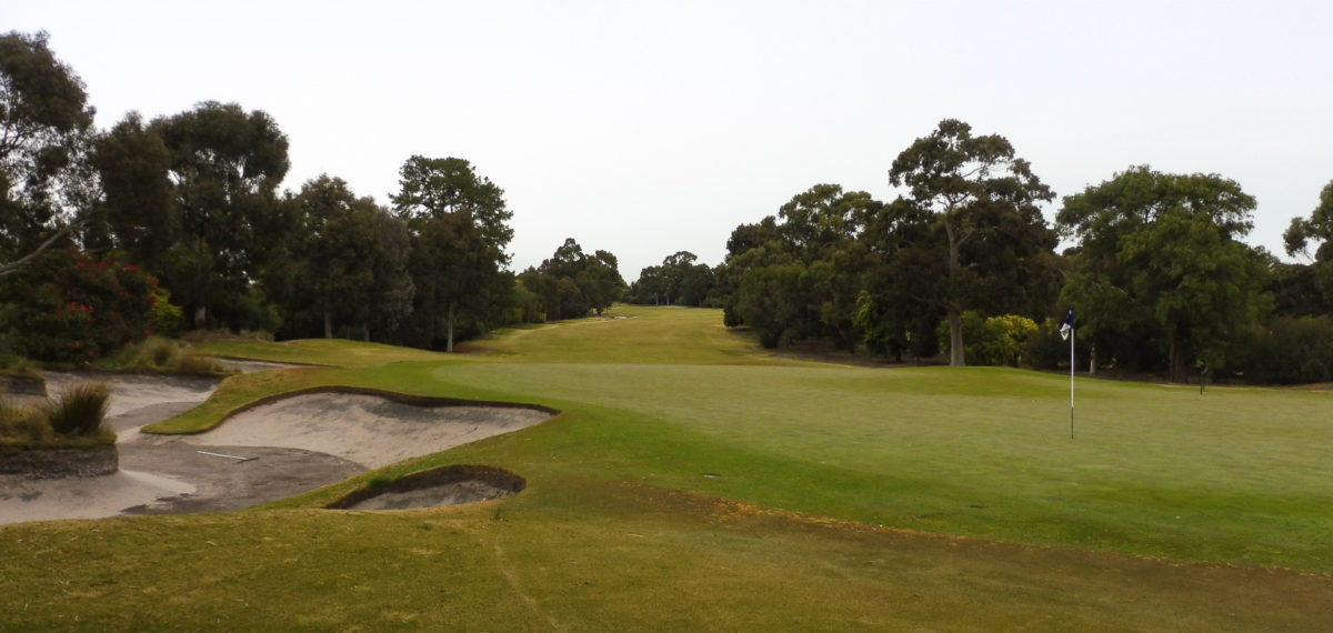 The 6th green at Huntingdale Golf Club