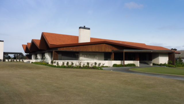 The clubhouse at Huntingdale Golf Club