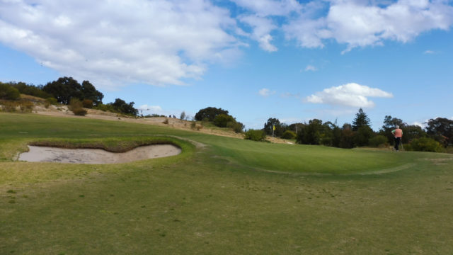 The 14th green at Bonnie Doon Golf Club