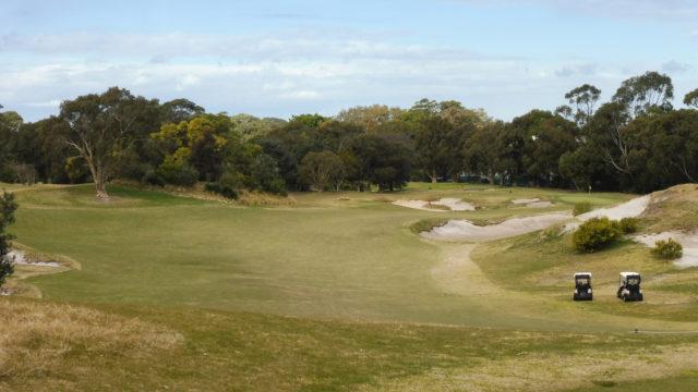 The 16th tee at Bonnie Doon Golf Club