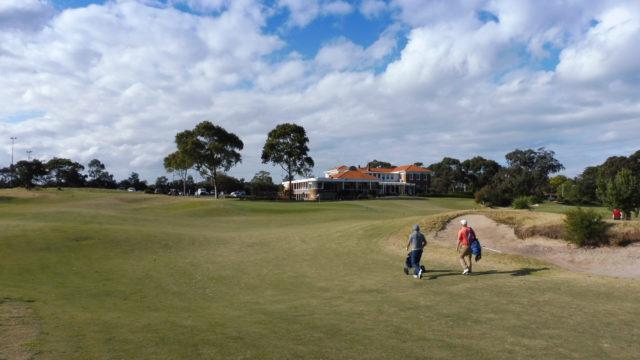 The 18th fairway at Bonnie Doon Golf Club