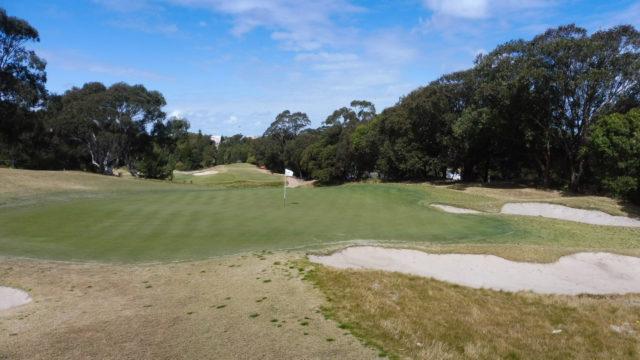 The 6th green at Bonnie Doon Golf Club