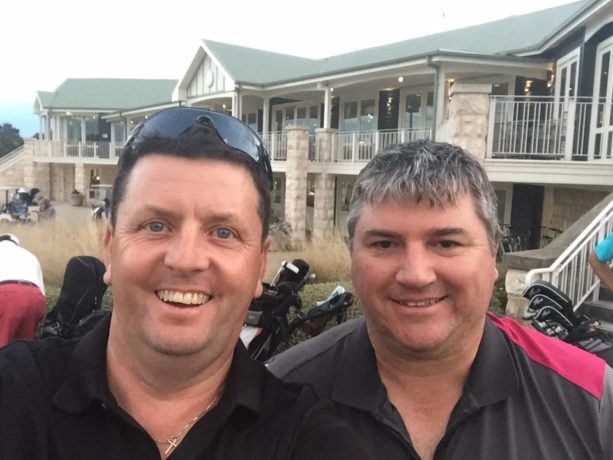 James and myself at Sorrento Golf Club