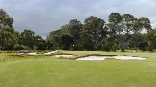 The 10th green at Woodlands Golf Club