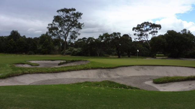 The 11th green at Woodlands Golf Club