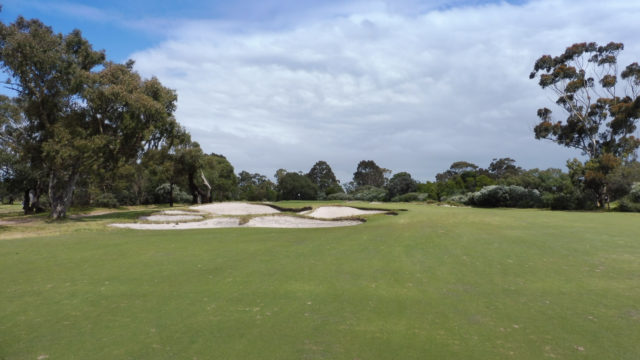 The 15th green at Woodlands Golf Club