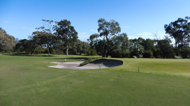 The 3rd green at Woodlands Golf Club