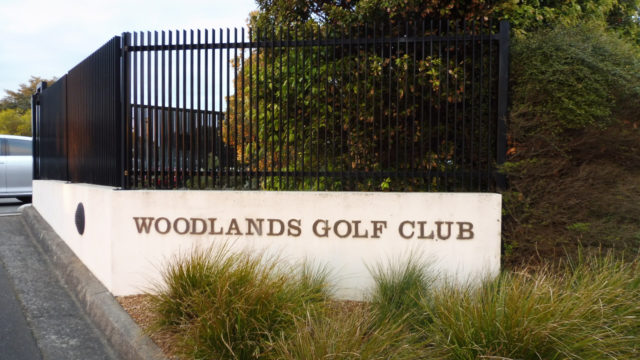 Entrance to Woodlands Golf Club