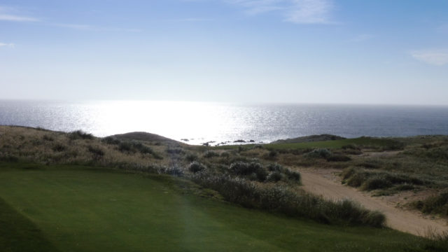 The 10th tee at Cape Wickham Links