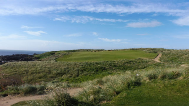 The 12th tee at Cape Wickham Links