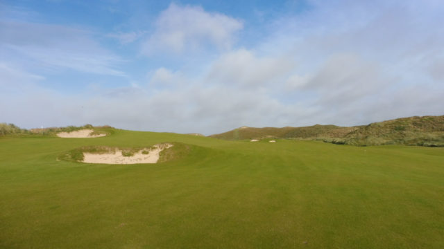 The 13th fairway at Cape Wickham Links