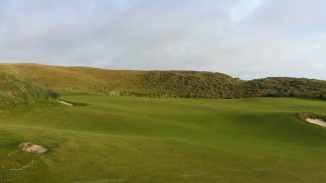 The 13th green at Cape Wickham Links