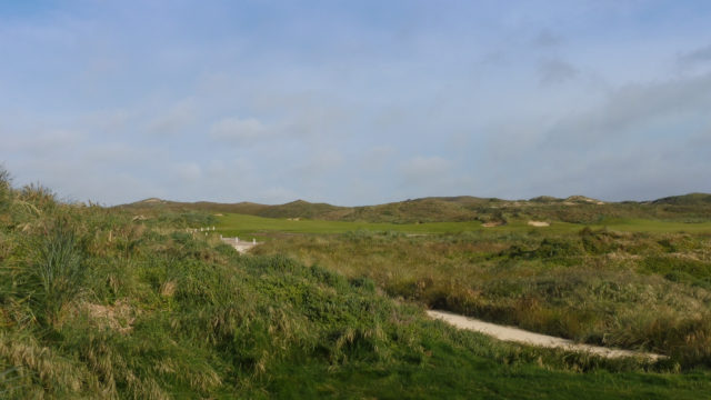 The 13th tee at Cape Wickham Links