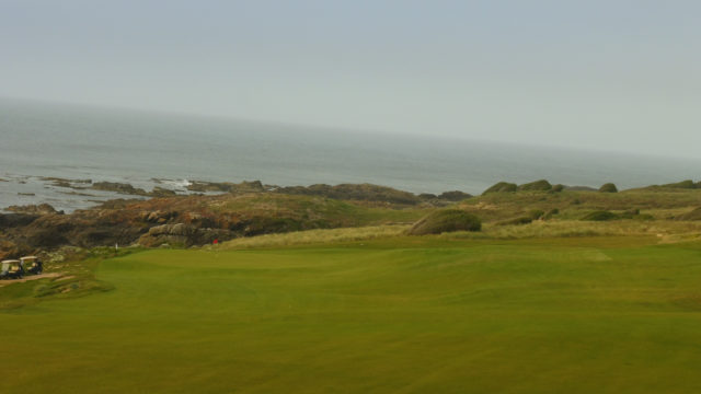 The 15th fairway at Cape Wickham Links