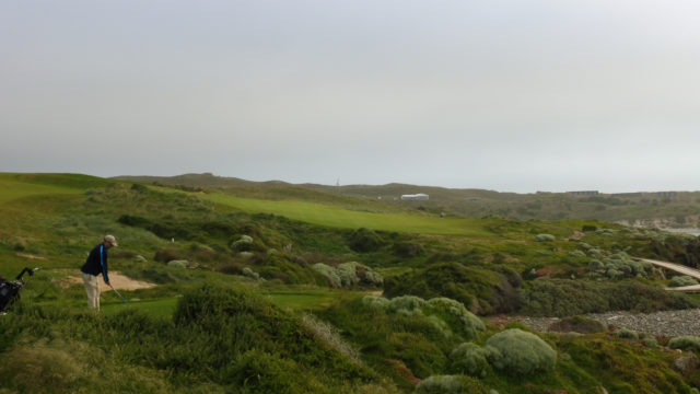 The 16th tee at Cape Wickham Links