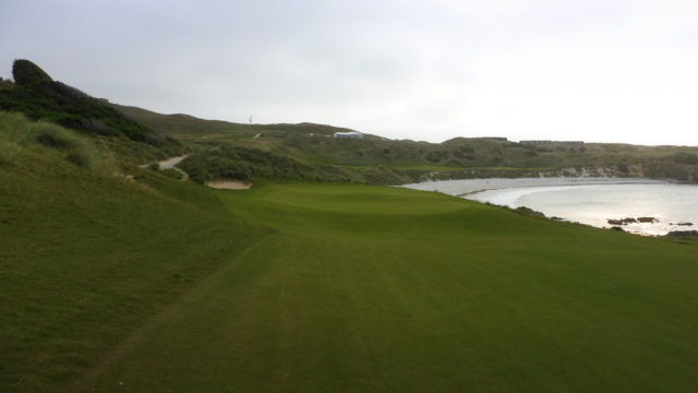 The 17th green at Cape Wickham Links