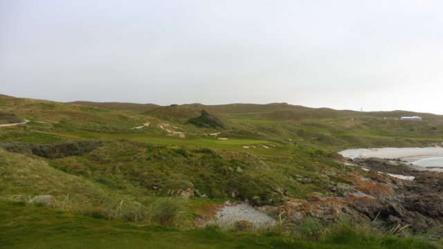 The 17th tee at Cape Wickham Links