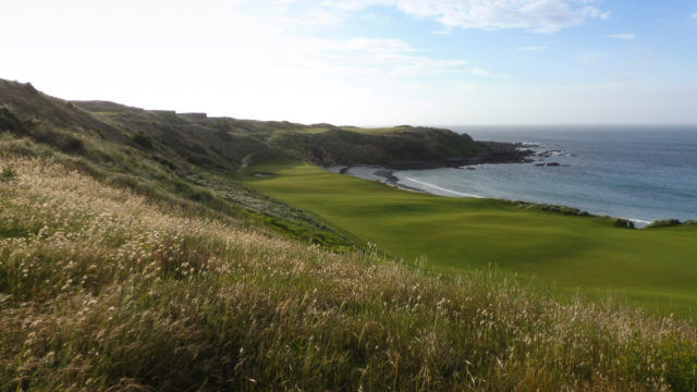 The 18th fairway at Cape Wickham Links