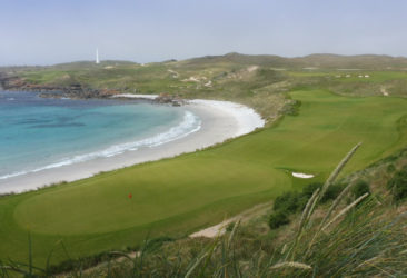 The 18th hole at Cape Wickham Links