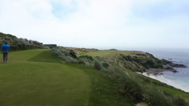 The 1st tee at Cape Wickham Links