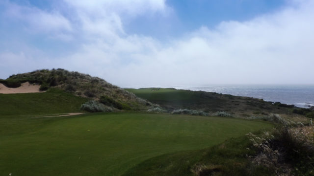 The 2nd tee at Cape Wickham Links