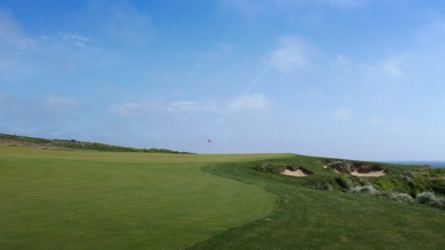 The 3rd green at Cape Wickham Links