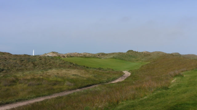 The 7th tee at Cape Wickham Links