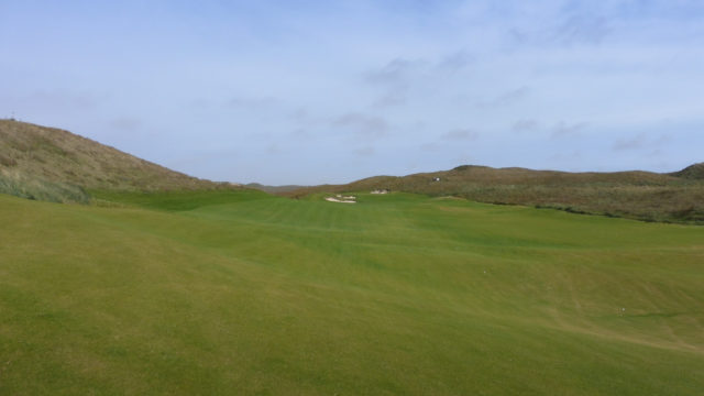 The 8th fairway at Cape Wickham Links