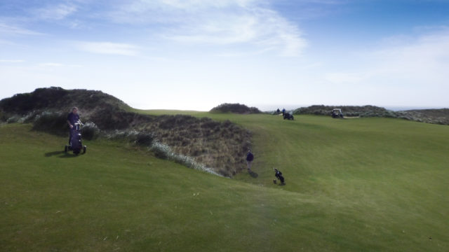 The 9th fairway at Cape Wickham Links