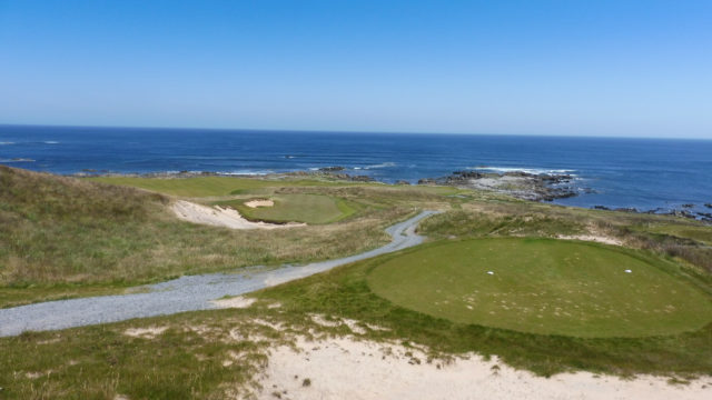 The 14th tee at Ocean Dunes