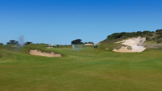 The 17th fairway at Ocean Dunes