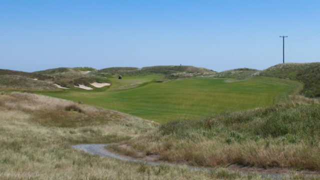 The 18th tee at Ocean Dunes